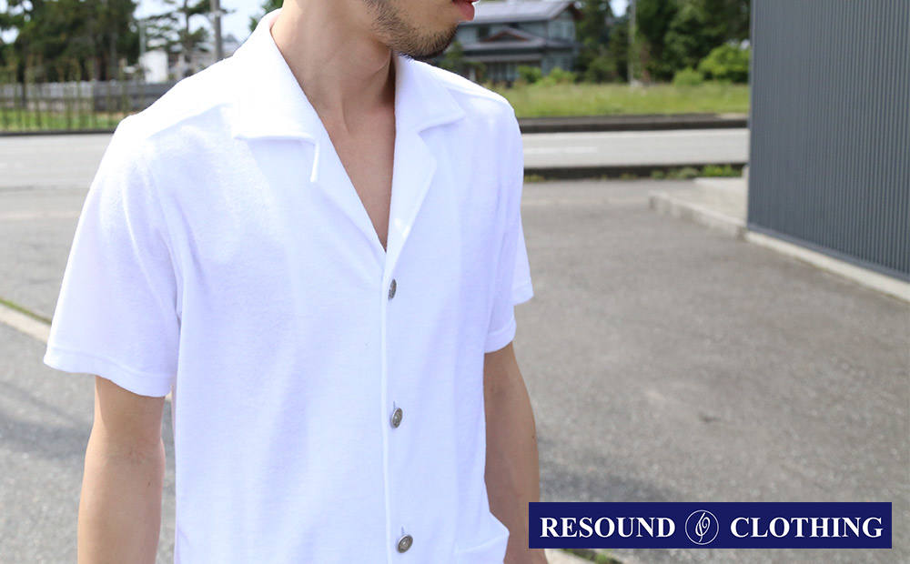【ON Photo no.17】pile beach shirts / リサウンドクロージング