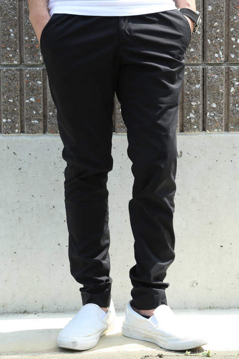 tasran sidegather pants / ブラック