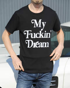 【M 9周年アイテム】crew neck t-shirts (My Fuckin' Dream / 18SS) / ブラック
