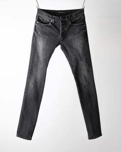 【10月下旬入荷予定】HI POWER STRECH × SHAVING SKINNY LEG / ブラック