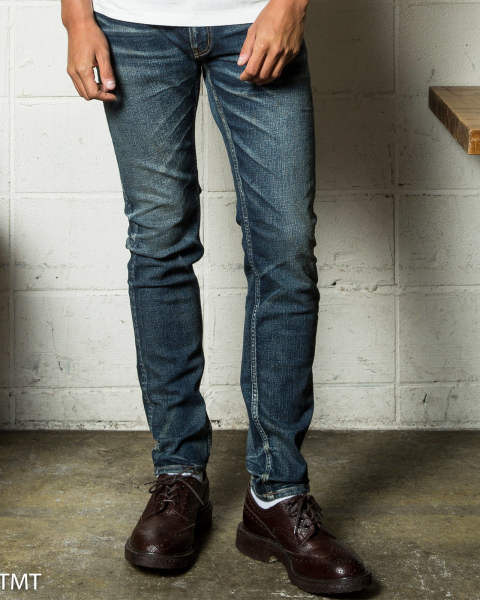 [9月入荷予定] hybrid-stretch vintage finish denim 5P taperd / インディゴ