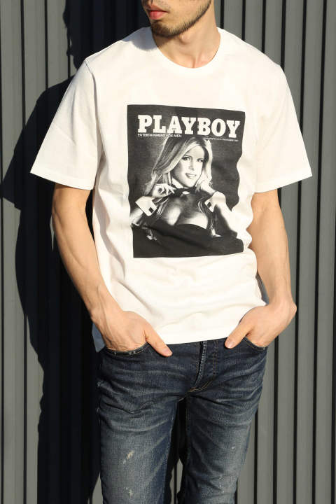 【HYSTERIC GLAMOUR×PLAY BOY】2007 NOVEMBER COVER pt T-SH / WHITE