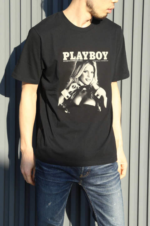 【HYSTERIC GLAMOUR×PLAY BOY】2007 NOVEMBER COVER pt T-SH / BLACK