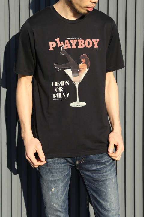 【HYSTERIC GLAMOUR×PLAY BOY】2018 MAY & JUNE COVER pt T-SH / BLACK