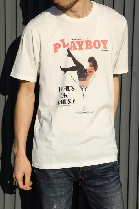 【HYSTERIC GLAMOUR×PLAY BOY】2018 MAY & JUNE COVER pt T-SH / WHITE