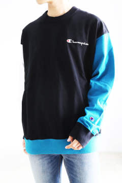 【XLARGE × Champion】CREW NECK / ブラック