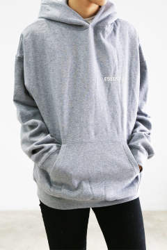 ONE POINT HOODIE / グレー