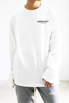 ONE POINT BOXY  LS TEE / オフホワイト
